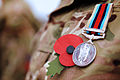 Soldier Wearing Poppy and Afghanistan Medal MOD 45154706.jpg