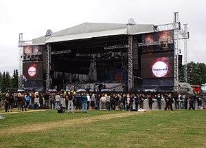 Sonisphere Festival - Main Stage at Sonisphere Festival in Kirjurinluoto, Pori, Finland.