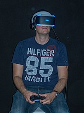 e8133e92676d The Project Morpheus (PlayStation VR) headset worn at gamescom 2015
