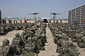 South Korean marines conduct on-off drills with a U.S. Marine Corps MV-22 Osprey tiltrotor aircraft assigned to Marine Medium Tiltrotor Squadron (VMM) 262 during Marine Expeditionary Force Exercise (MEFEX) 2014 140317-M-UH847-006.jpg