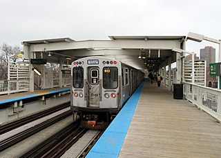 "Indiana station (CTA) Chicago ""L"" station"