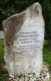 Memorial for the Battle of Blenheim 1704, Lutzingen, Germany.