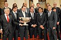 Spanish P. M. Rajoy with the Spanish Davis Cup national team, winner of the 2011 Davis Cup.jpg