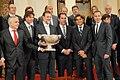Spanish P. M. Rajoy with the Spanish Davis Cup national team, winner of the 2011 Davis Cup.jpg