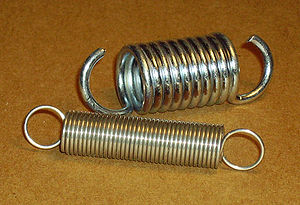 Spring (device) - Helical or coil springs designed for tension.