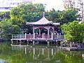 Square Pavilion beside Shuangxi Park Pond Shore 20131010a.JPG