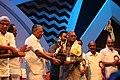 Sreekumaran Thampi receiving the J. C. Daniel Award 2017 01.jpg