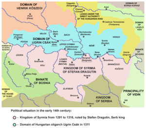 Realm of Stefan Dragutin - Kingdom of Syrmia of Stefan Dragutin (1291-1316)