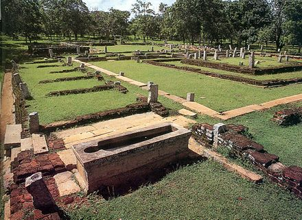 Ruins of a two thousand years old hospital were discovered in the historical city of Anuradhapura Mihintale Sri Lanka