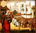 St. Auta Altapiece - Arrival of the relics of St. Auta at Madre de Deus Monastery - Lisbon Workshop - ca. 1522 - oil on oak.JPG