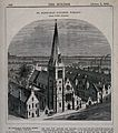 St. Barnabas' College, Pimlico. Wood engraving by C. D. Lain Wellcome V0013858.jpg