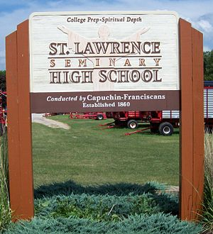 St. Lawrence Seminary High School - Image: St Lawrence Seminary High School Sign