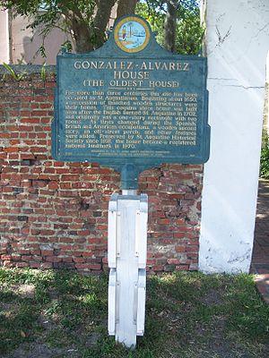 González–Alvarez House - Image: St Aug NHL Gonzalez Alvarez plaque 01