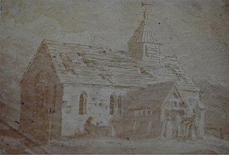 St Lawrence's Church, Weston Patrick - Image: St Lawrence, Weston Patrick c. 1810