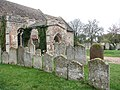 St Nicholas' church - old headstones by south porch - geograph.org.uk - 1576137.jpg