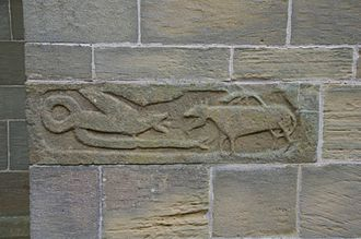 Newton under Roseberry - Anglo Saxon carving on St Oswald's