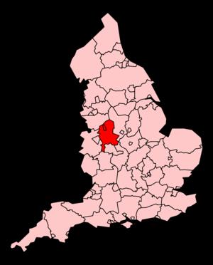 Staffordshire Ambulance Service - Map of Staffordshire Ambulance Service's coverage