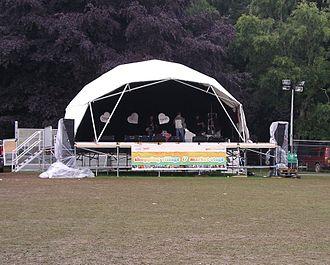 Godiva Festival - A stage at the Godiva Festival 2007