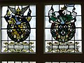 Stained glass - John Tradescant and Robert Plot coats of arms.jpg