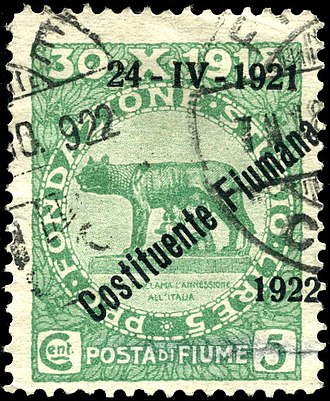Postage stamps and postal history of Fiume - 2nd constituent assembly issue