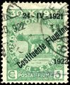 Stamp Fiume 1922 5c ovpt.jpg