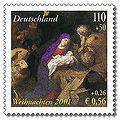 Stamp Germany 2001 MiNr2227 Weihnachten Anbetung der Hirten.jpg