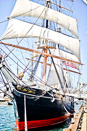 Sailing ship - Image: Star of India harbor San Diego
