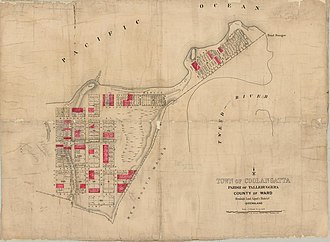 Coolangatta - Estate map of the town of Coolangatta, Queensland, 1885