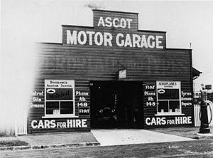 Racecourse Road, Brisbane - Ascot Motor Garage, Racecourse Road (1920s)