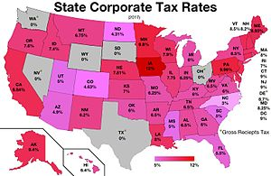 Corporate tax in the United States - State corporate tax rates in the United States