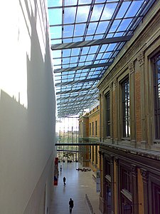 Interior of the National Gallery (Statens Museum for Kunst), combining new and old architecture Statens Museum for Kunst.jpg