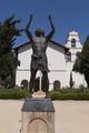 Statue of Luke at Old Mission San Juan Bautista in San Juan Bautista, a city in San Benito County, California LCCN2013634733.tif
