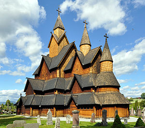 Stave church - Heddal stave church, Notodden, the largest stave church in Norway