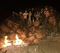Staying warm on Blaise Butte. New Years 2004 (3725075974).jpg