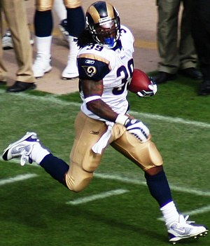 History of the St. Louis Rams - Rams' all-time leading rusher running back Steven Jackson