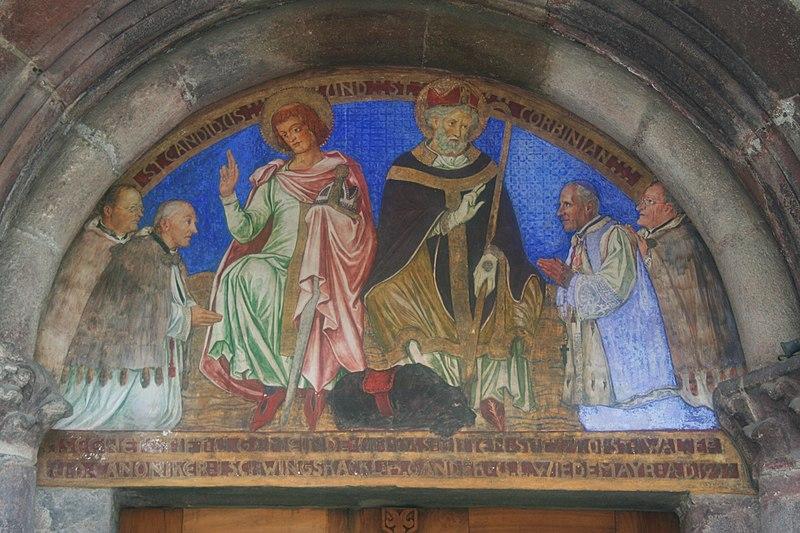 File:Stift Innichen, Gemälde über dem Nordportal.JPG