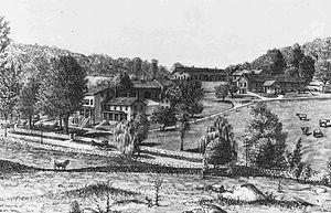 Briarcliff Farms - Illustration of James Stillman's Briarcliff Farm around 1886