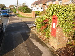 Stoborough, postbox No. BH20 200, Corfe Road - geograph.org.uk - 1591329.jpg