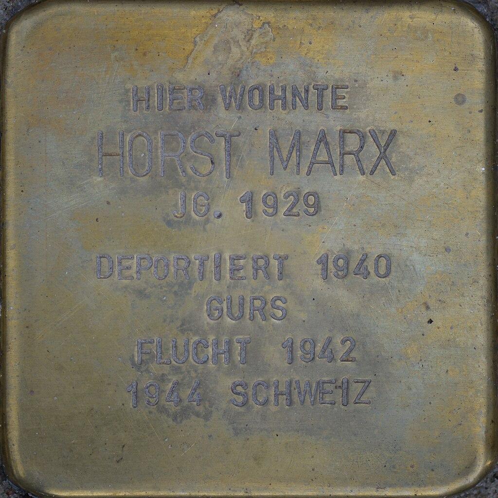 Stolperstein - Marx, Horst (2016).jpg