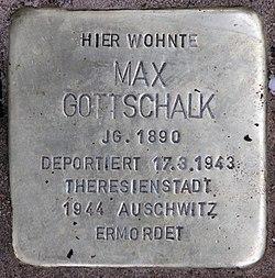 Photo of Max Gottschalk  brass plaque