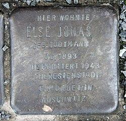 Photo of Else Jonas brass plaque