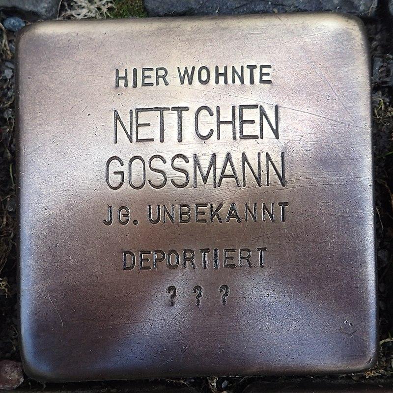 Stolperstein für Nettchen Gossmann