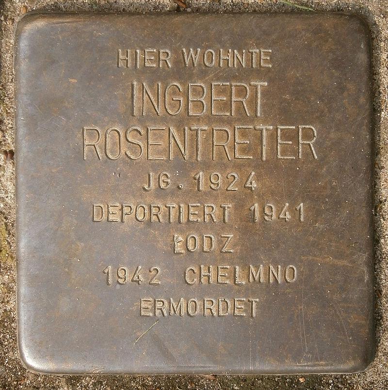Stolperstein Behnstraße 17 (Ingbert Rosentreter) in Hamburg-Altona-Altstadt.JPG