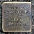 Stolperstein Brunnenstr 16 (Mitte) Artur Rosenthal.jpg