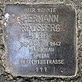 Stolperstein Hagenstr 14a (Liber) Hermann Rindsberg.jpg