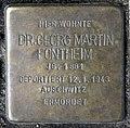 Stolperstein Heerstr 15 (Westend) Georg Martin Fontheim.jpg