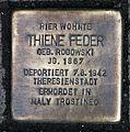 Stolperstein Karl-Liebknecht-Str 9 (Mitte) Thiene Feder.jpg