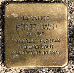 Photo of Moritz David brass plaque