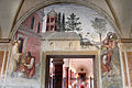 Storie di s. benedetto, 17 sodoma - Come Benedetto converte in serpe un fiasco di vino nascostogli da un garzone 01.JPG