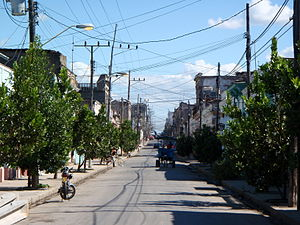 Cienfuegos - Tree-lined residential street in Cienfuegos in 2009